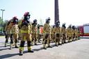 Minuut stilte in de brandweerkazerne in de Roggestraat