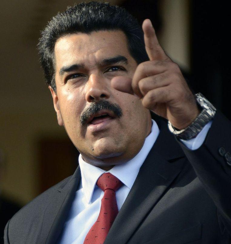 De Venezuelaanse president Nicolas Maduro. Beeld belga