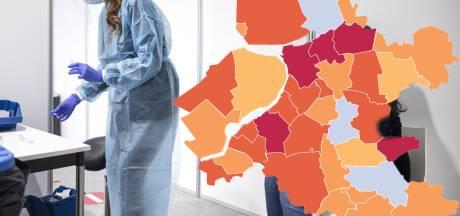 KAART | Minder nieuwe besmettingen in Staphorst, regio kleurt nog steeds rood