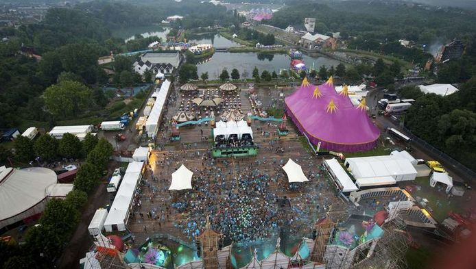 Luchtfoto Tomorrowland 2012
