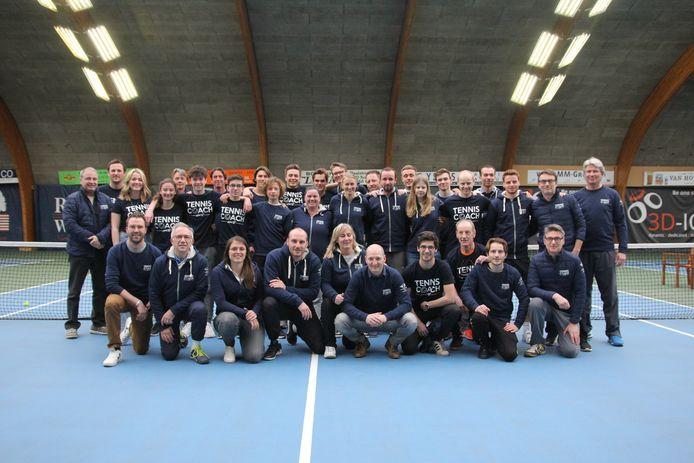 Het trainersteam van TC Gym in Schoten.