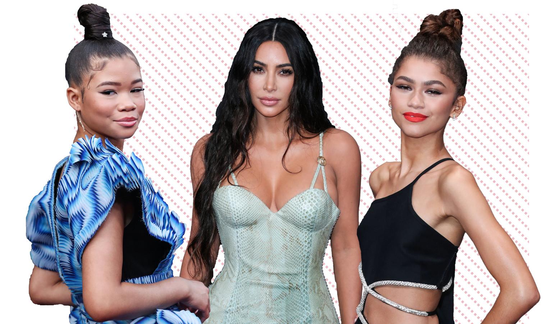Storm Reid, Kim Kardashian en Zendaya.