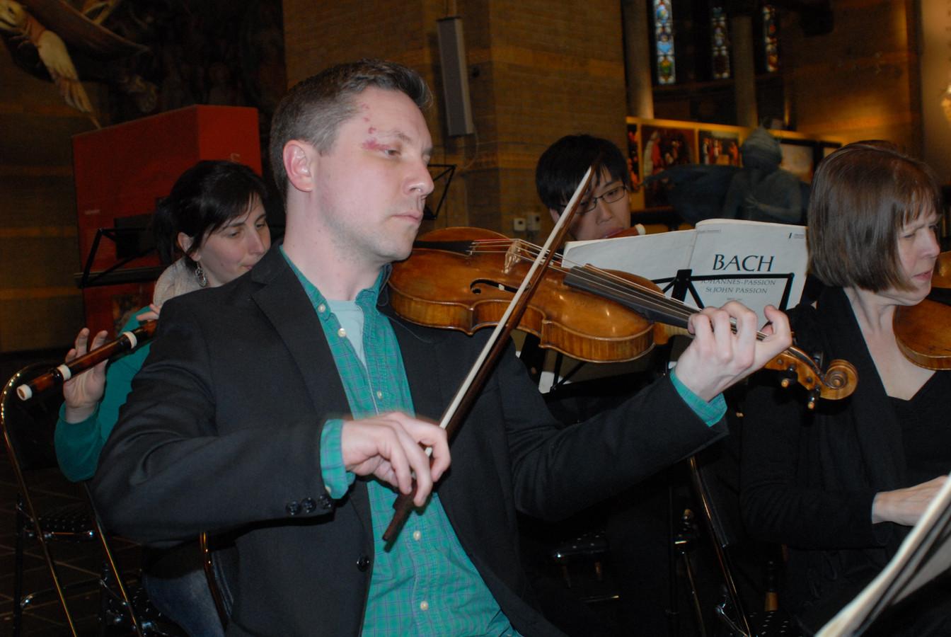 Daniel Boothe speelde op een viool die stamt uit 1703