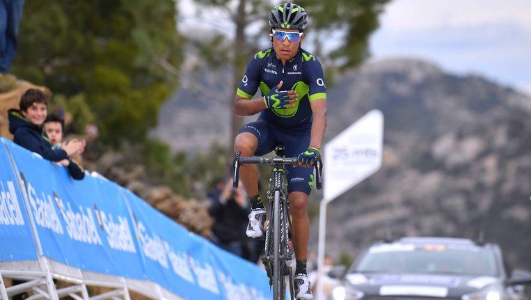 Nairo Quintana (Movistar) heeft de vierde etappe in de Ronde van Valencia (cat. 2.1) op zijn naam gebracht Beeld TDW