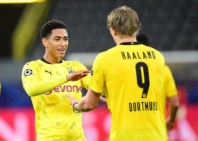 Jude Bellingham en Erling Haaland, de twee duurste aankopen onder 21 jaar van Dortmund.