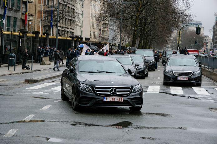 Uber-chauffeurs kwamen dit jaar al op straat om te protesteren tegen het taxibeleid van de regering-Vervoort.