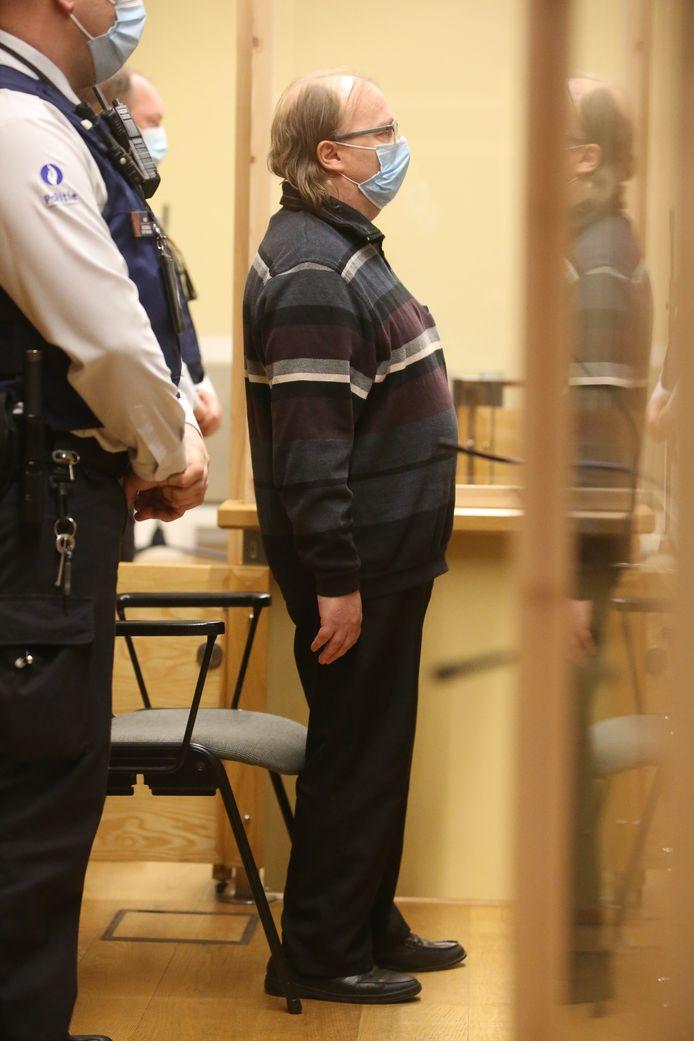 Dirk Wauters tijdens de voorlezing van het arrest.