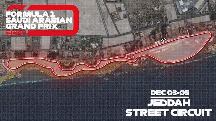 De avondrace op 5 december, de voorlaatste wedstrijd van het WK-seizoen, wordt in havenstad Jeddah gereden op het langste en snelste stratencircuit in de historie van de koningsklasse van de autosport