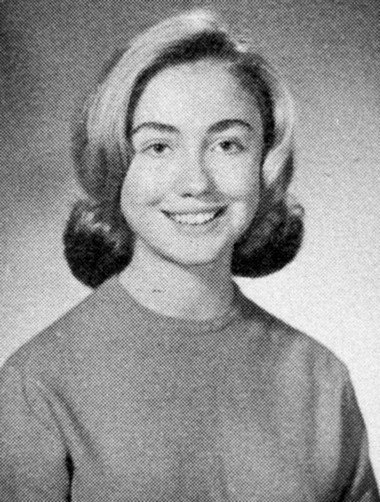Een jaarboekfoto van Hillary Rodham uit 1965. Beeld getty