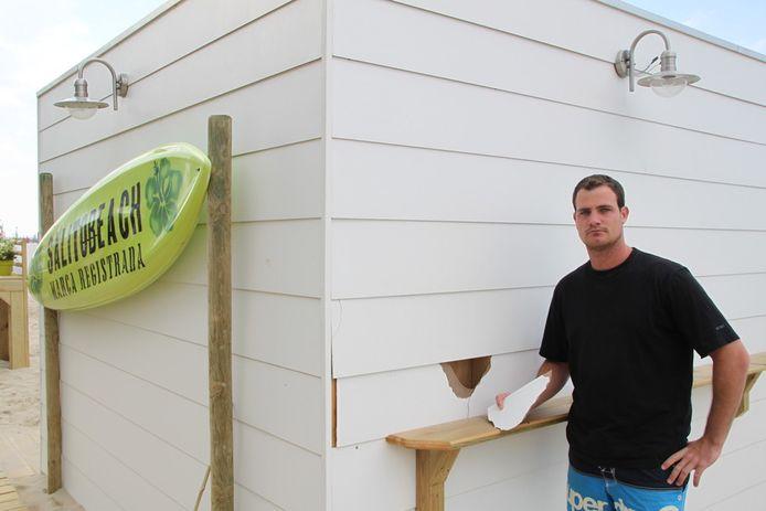 Archieffoto. Jonathan Polen, uitbater van Salito Beach.