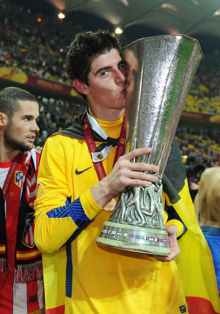 Courtois won de Europa League met Atlético.