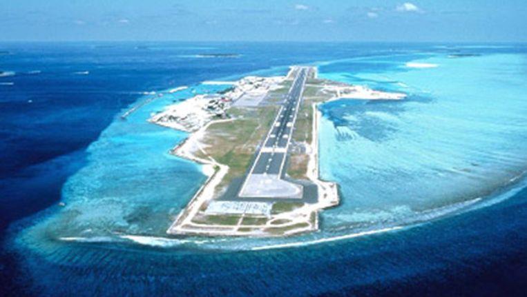De enige start- en landingsbaan van Male International Airport Beeld Maldives Tourism