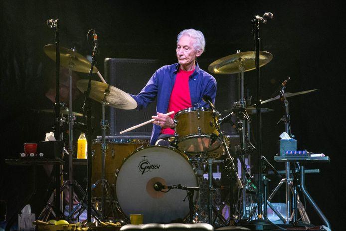 Charlie Watts, sur scène avec les Rolling Stones, en 2019