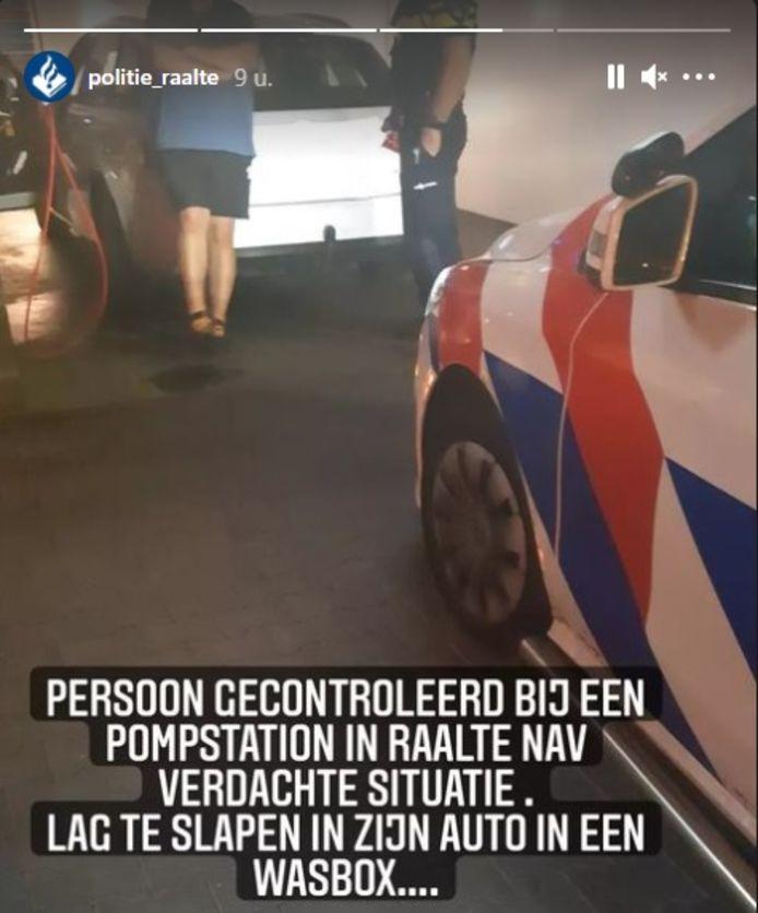'Niet helemaal de bedoeling. Persoon weggestuurd', voegde de politie hier nog aan toe.