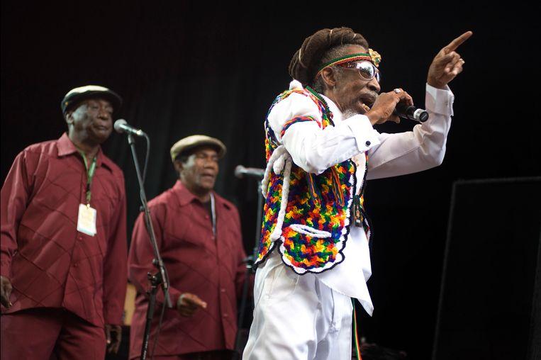 Bunny Wailer op het Brugse Cactusfestival in 2009. Beeld Alex Vanhee