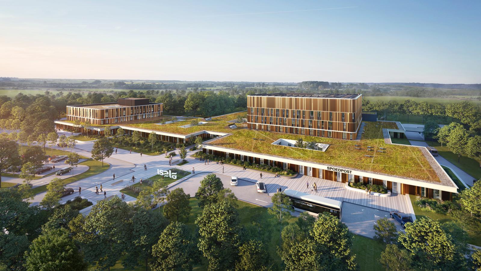 Het nieuwe ziekenhuis in Meppel komt er zo uit te zien als de bouw is afgerond.