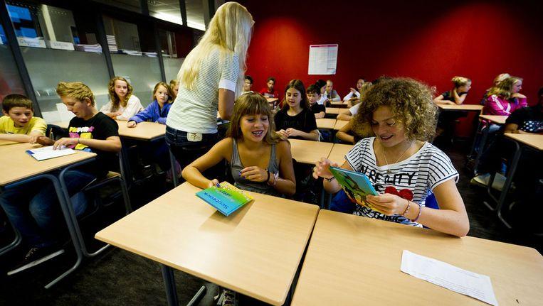 De eerste schooldag van die schooljaar op het Segbroek College in Den Haag. Beeld