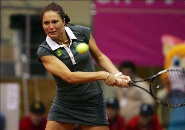 Bondarenko staat op de WTA-lijst 120 plaatsen hoger dan Wickmayer. Daar viel vandaag weinig van te merken. Beeld UNKNOWN