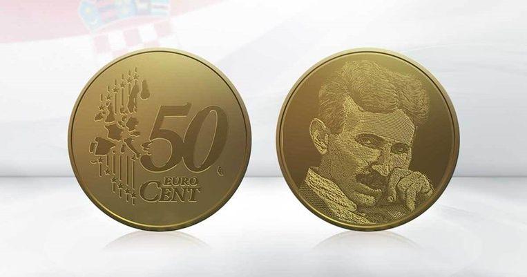 De munt met Nikola Tesla erop moet in 2023 in gebruik worden genomen. Beeld Numismag
