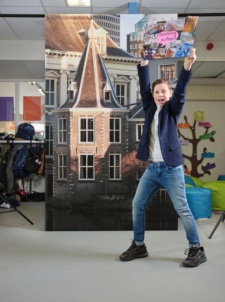 Jorn, Kinderburgemeester te Apeldoorn  Beeld Erik Smits
