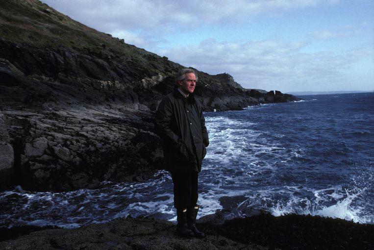 John le Carré in 1983. De schrijver sprak bij leven nooit over zijn eigen ervaringen bij de geheime dienst. Beeld Gamma-Rapho via Getty Images