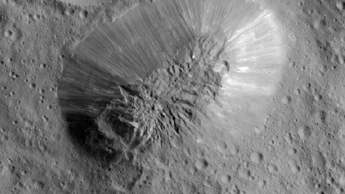 De inactieve vulkaan op Ceres