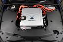 De brandstofcel in een waterstofauto van Toyota.