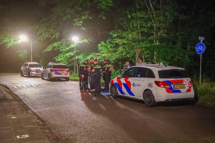 In Amersfoort was vrijdagavond een grote politie-zoekactie gaande.