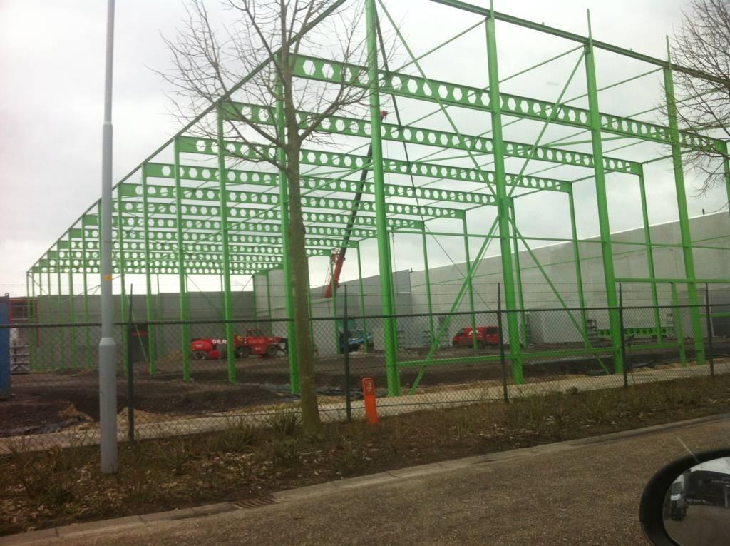 Een deel van de nieuwbouw van Obelink op het industrieterrein van Winterswijk.