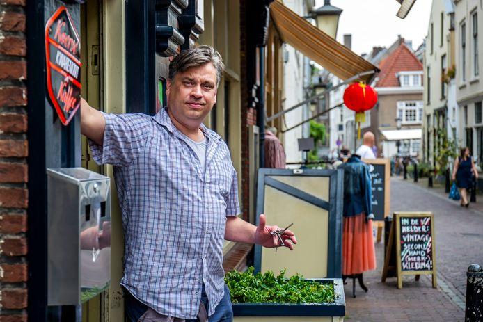 Wiljan de Jong , eigenaar van Café Domkop in Utrecht.