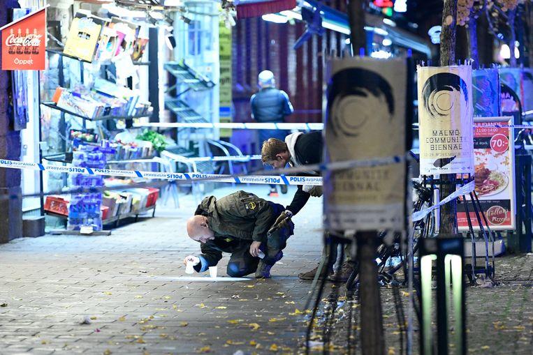 In Malmö vonden in 2017 gemiddeld vijf à zes schietpartijen per maand plaats. Beeld Hollandse Hoogte/EPA