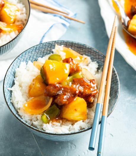 Wat Eten We Vandaag: Koe lo yuk met ananas en witte rijst