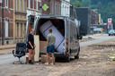In Limbourg kiezen veel bewoners ervoor om te evacueren.