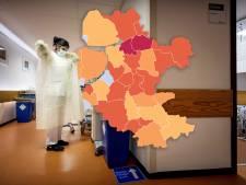 KAART   Besmettingen in Oost-Nederland na dagenlange stijging gedaald, Staphorst maakt opmerkelijke ommezwaai