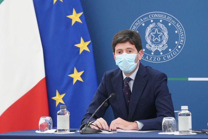 De Italiaanse minister van Volksgezondheid Roberto Speranza.