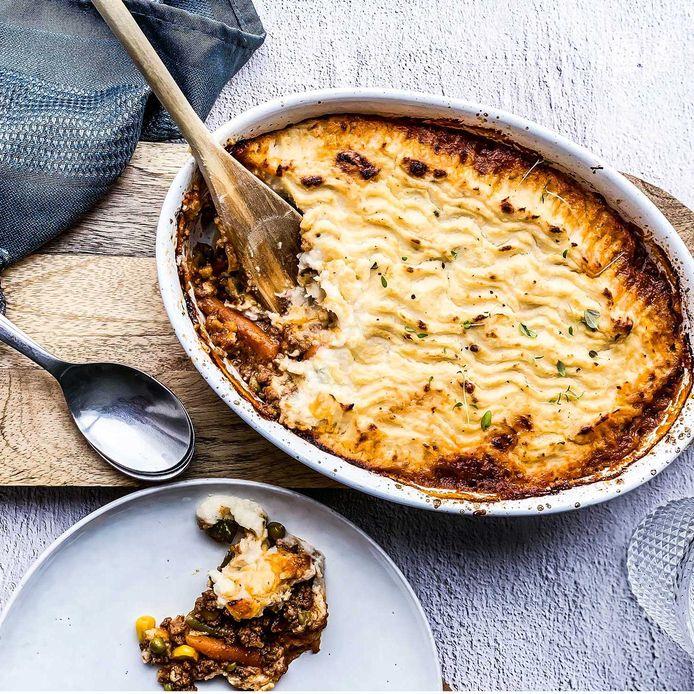 Shepherd's pie met bloemkoolpuree