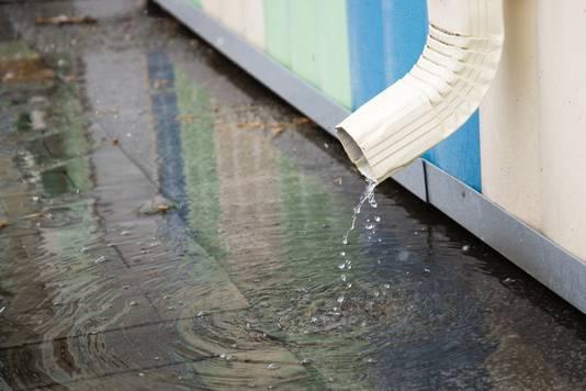 Je kunt regenwater opvangen in een ton en dat water later gebruiken om de tuin te sproeien. Dan heb je ook minder snel wateroverlast.