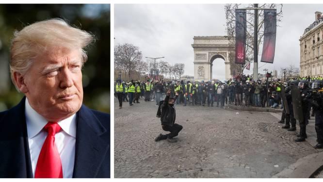 """Frankrijk hoeft bemoeienissen van Trump niet na zijn """"Wij willen Trump""""-tweet"""