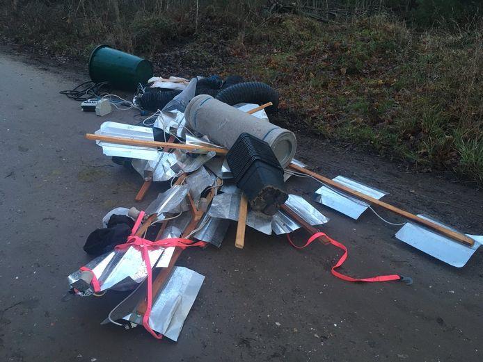 Afval in de natuur rondom Bergen op Zoom.