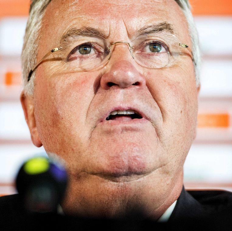 Bondscoach Guus Hiddink. Beeld epa