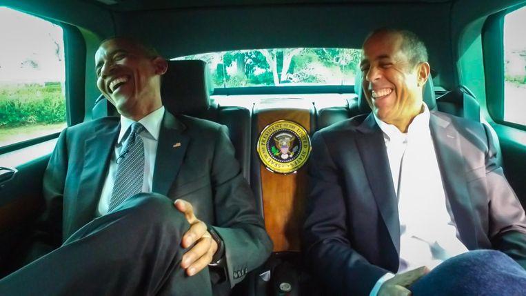 Jerry Seinfeld met Barack Obama in 'Comedians in Cars Getting Coffee'. Beeld rv