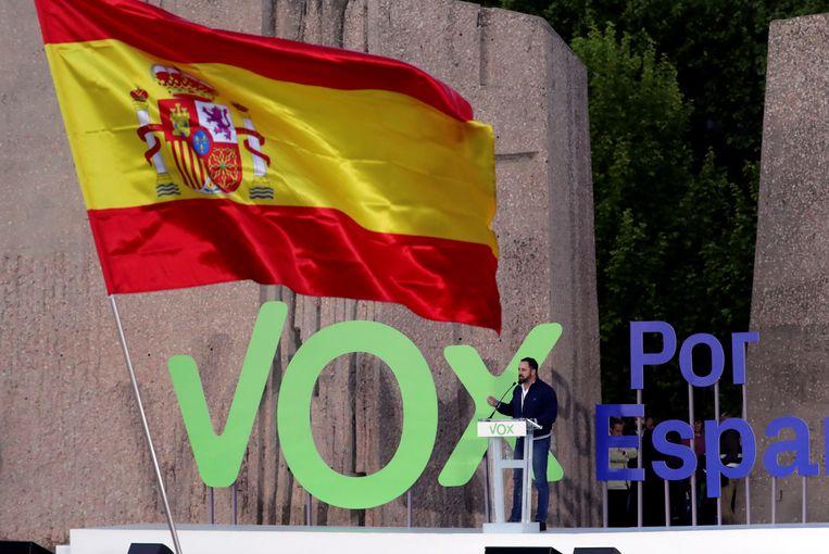 Een partijmeeting van Vox. Beeld EPA