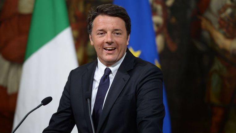 Premier Renzi. Beeld AFP