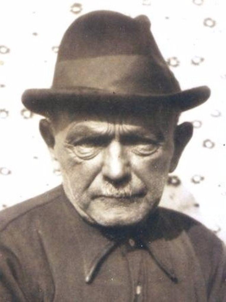 Schipper Geert Dinkla op latere leeftijd. Zijn vrouw, zes kinderen en de schippersknecht verdronken bij de ramp. Beeld Groningen archief