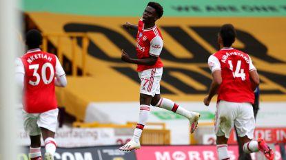 Wolverhampton boekt thuis pijnlijke nederlaag tegen Arsenal dat nu weer uitzicht heeft op Europees voetbal