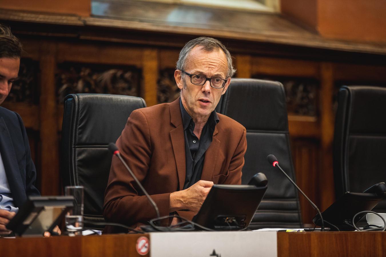 Rudy Coddens, Filip Watteeuw, Mieke Van hecke en Mathias De Clercq stellen de begroting voor van Gent