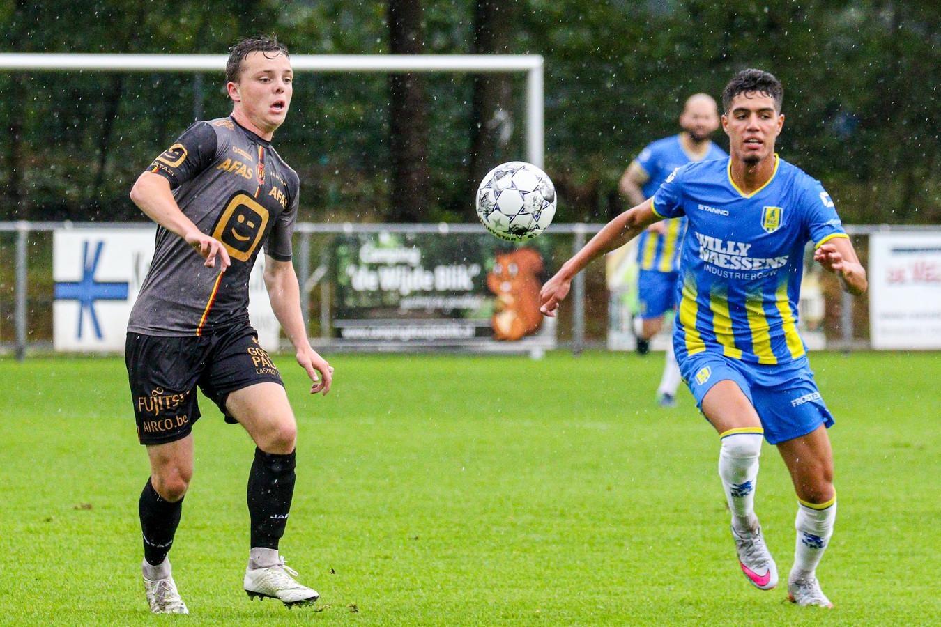 Anas Tahiri in actie tijdens het duel met KV Mechelen.