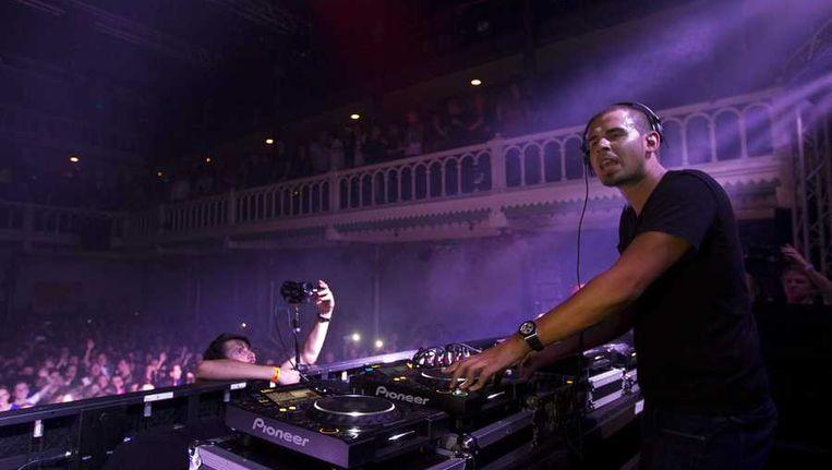 DJ Afrojack in een uitverkocht Paradiso. Beeld anp