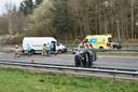Door een ernstig ongeluk is de A32 bij Steenwijk in noordelijke richting helemaal dicht.