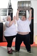 Dankzij veel trainen en een speciaal dieet is het stel flink afgevallen.